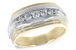 Gents Two Tone Diamond Ring