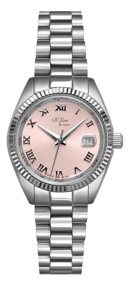 Ladies SS Pink Watch