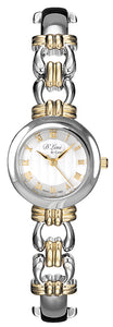 24mm Ladies Two Tone Dress Watch- Silver