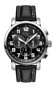 Gents Black & White Chronograph