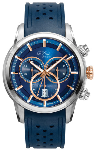 Gents Navy & Rose Sport Chronograph Watch