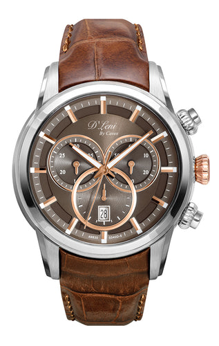 Gents Brown Leather Chronograph
