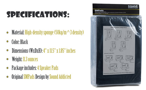 SMPads package specifications and dimensions