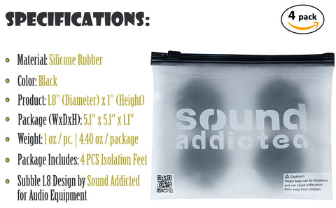1.8 Isolation feet 4pc specifications