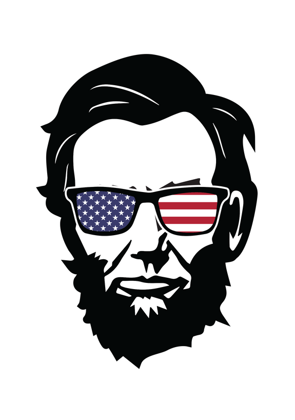 Abraham Lincoln with USA sunglasses