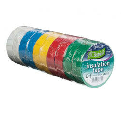 19MM X 20MTR ASST. COLOUR ELECTRICAL TAPE