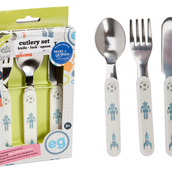 BOYS MAKE A WISH 3 PCE CHILDS CUTLERY SET