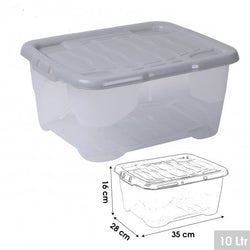 10LTR GREY LID STORAGE CONTAINER