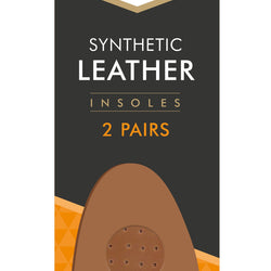 2 PAIR LEATHER PADDED INSOLES