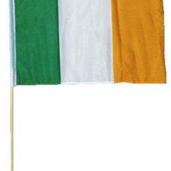 30CM X 45CM IRELAND FLAG ON WOOD STICK
