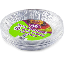 10 PACK FOIL FLAN DISHES