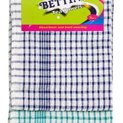 3 PACK COTTON TEA TOWELS
