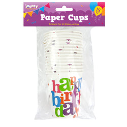 15 PACK HAPPY BIRTHDAY CUPS