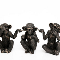 SET OF 3 16CM X 20CM MONKEYS