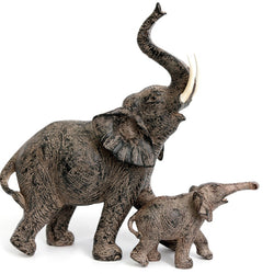 SET OF 2 MOTHER AND BABY ELEPHANTS