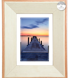 A4 CREAM NATURAL SOLID WOOD FRAME