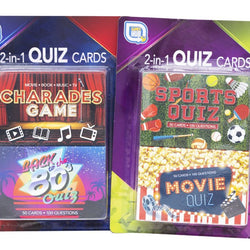 2 ASST. 2 PACK QUIZ CARDS