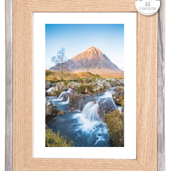 A4 TWO TONE RETRO WOOD FRAME