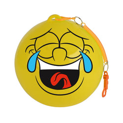 30CM ASST. FACES DEFLATED KEY CHAIN BALL
