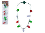 3 ASST. 9 BULB MULTI FUNCTION B/OP XMAS NECKLACE