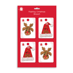 2 ASST. STYLES XMAS BROOCHES