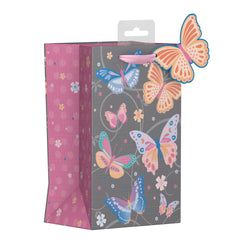 SMALL BUTTERFLY SWIRLS GIFT BAG