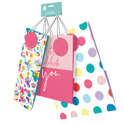 3 PACK ASST.SIZES BRIGHTS GIFT BAGS