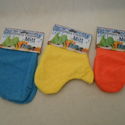 21CM X 25CM 4 ASST. COLOURS MICROFIBRE CLEANING MITT