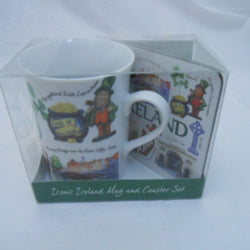 ICONIC IRELAND MUG AND COASTER SET