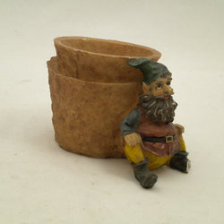 "4 ASST. 4"" SITTING GNOME WITH PLANTER"