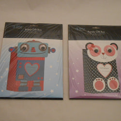 3 ASST.CAT/PANDA/ROBOT GIFT BOX