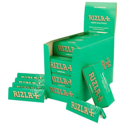 20 X 5 PACK BOOKLETS GREEN RIZLA PAPERS