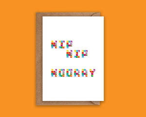 Hip Hip Hooray- Greeting Card