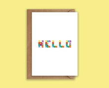 Load image into Gallery viewer, Hello - Greeting Card