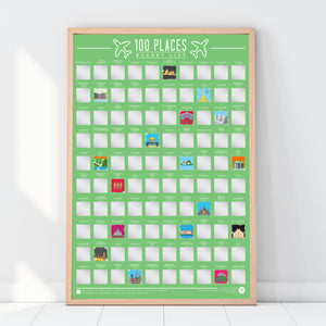 Bucket List Poster 100 Places
