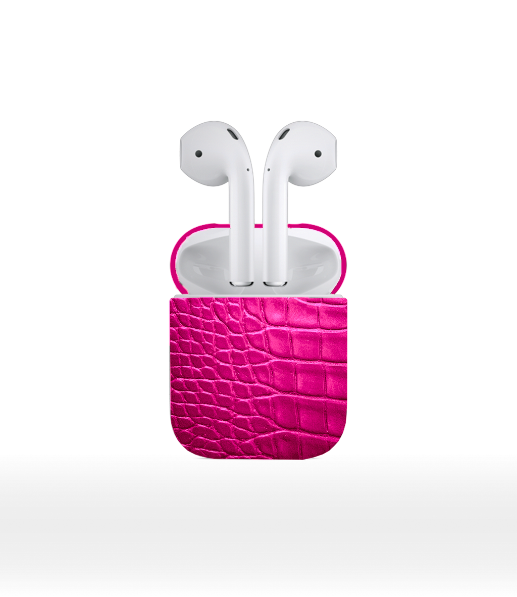 DUC HENRI - Fuchsia Alligator Airpods 2