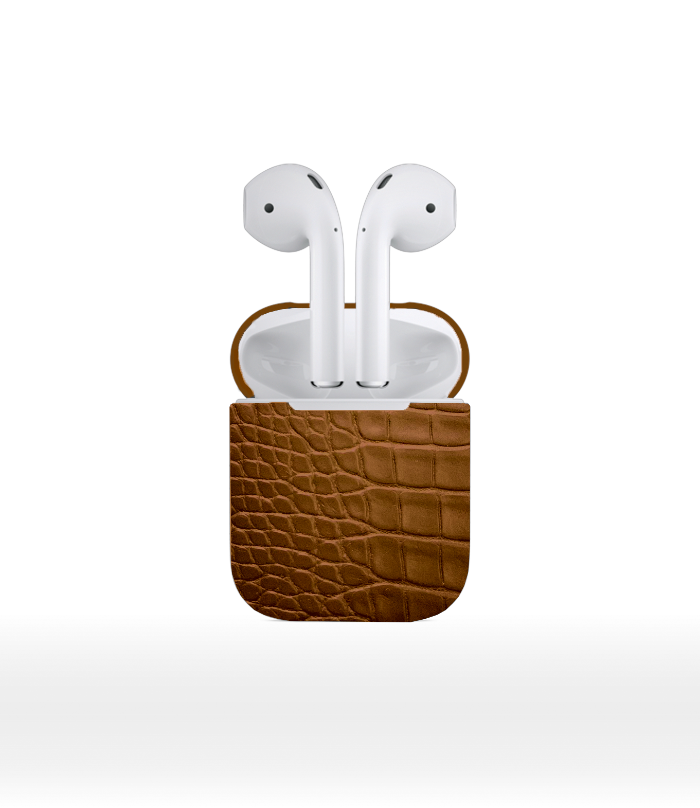DUC HENRI - Brown Alligator Airpods 2
