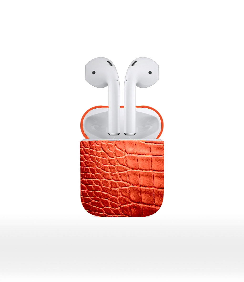 DUC HENRI - Orange Alligator Airpods 2