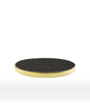 Black Calf leather custom wireless charger for smartphone