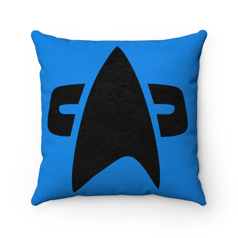 Science Officer Star Trek Faux Suede Square Pillow