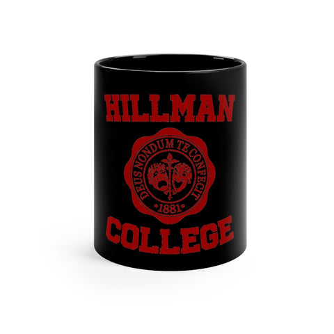 Hillman College Black mug 11oz