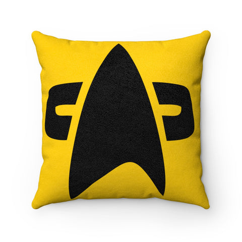 Engineering Star Trek Faux Suede Square Pillow