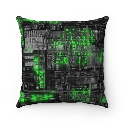 Star Trek Borg Cube Faux Suede Square Pillow