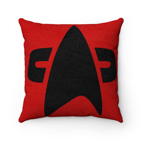 Command Star Trek Faux Suede Square Pillow