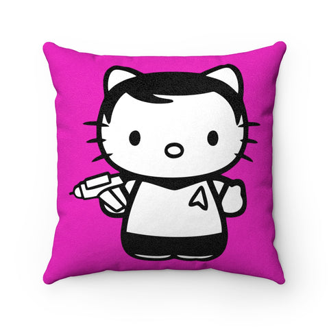 Hello Kitty Starfleet Star Trek Faux Suede Square Pillow