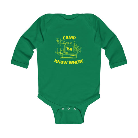 Camp Know Where Stranger Things Infant Long Sleeve Bodysuit