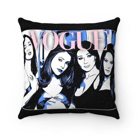 Charmed: Vogue Issue Faux Suede Square Pillow