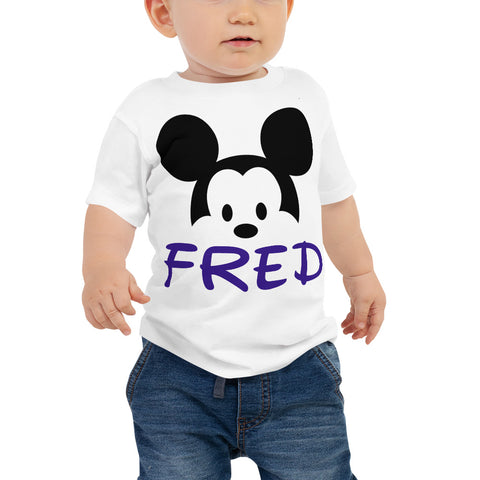 Personalized Mickey Mouse Baby Jersey Short Sleeve Tee