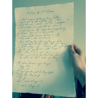 VENNART: HANDWRITTEN LYRICS