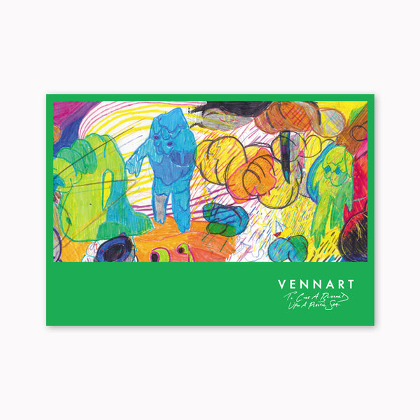 "VENNART: ""TO CURE A BLIZZARD UPON A PLASTIC SEA"": A2 ALBUM ARTWORK PRINT (PRICE INCLUDES P&P)"